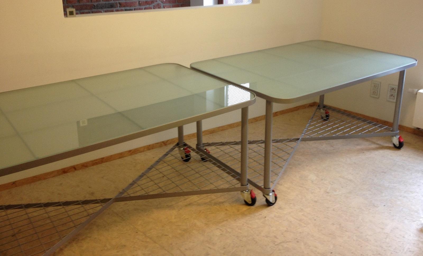 Vds tables de bureau en verre et acier petites annonces